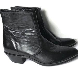 Laredo black pointed toe western cowboy boots